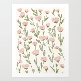 Rose Garden Pattern Art Print