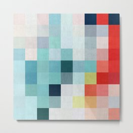 Abstract painting to squares VI Metal Print
