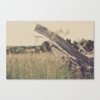 battlefield Canvas Prints featuring Battlefield Fence by Sam Wesselhoft