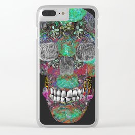 Flower Power Skelly Clear iPhone Case