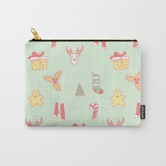 Pastel Bright Christmas Carry-All Pouch