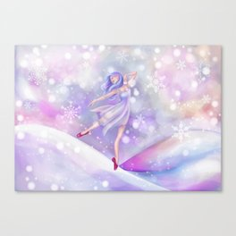 Winter Lavender Ballerina Canvas Print