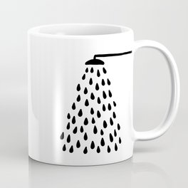 Shower drops with feucet on the right side Coffee Mug