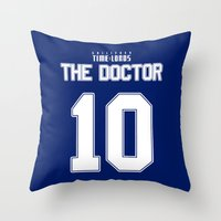 david tennant Throw Pillows featuring Team Tennant by trekvix
