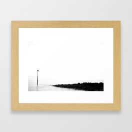 Alone with the Sea Framed Art Print