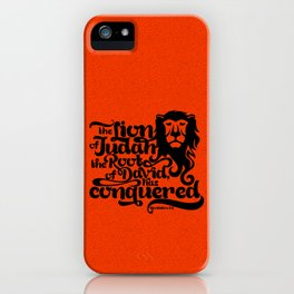 The Lion of the tribe of Judah, the Root of David, has triumphed iPhone Case