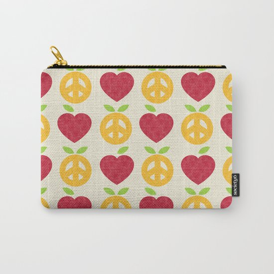 Apple and Orange - Love and Peace Carry-All Pouch