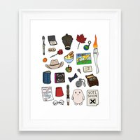 doctor who Framed Art Prints featuring Doctor Who by Shanti Draws