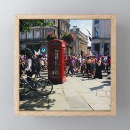 Women's march Framed Mini Art Print