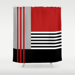 Colorful geometry 5 Shower Curtain