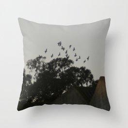 Nightfall flight Throw Pillow