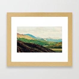 Denali Mountains Framed Art Print