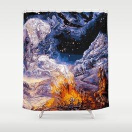 Native American Spirit Shaman (Painting) Shower Curtain