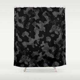 Camouflage Noir/Gris Shower Curtain