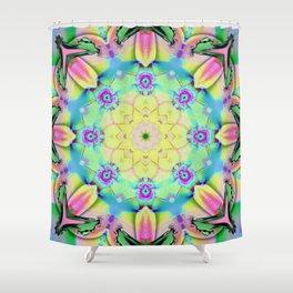 Summer feelings, colourful kaleidoscope design Shower Curtain