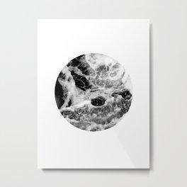 minimalist black ocean Metal Print