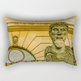 An Philosophers Head near the Sheldonian Theatre Oxford University England Rectangular Pillow