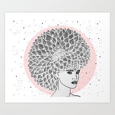 Dandelion Girl Art Print