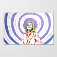 amy poehler Canvas Prints featuring Amy Poehler by Rachel Hoffman