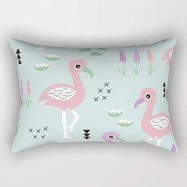 Tropical flamingo beach summer pattern Rectangular Pillow
