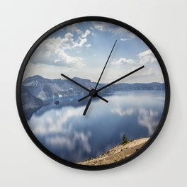 Crater Lake with a view of the Phantom Ship Wall Clock