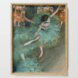"""Edgar Degas """"Danseuse basculant (Danseuse verte - The green dancer)"""" Serving Tray"""