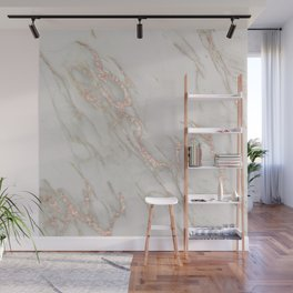 Marble Rose Gold Blush Pink Metallic by Nature Magick Wall Mural