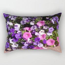 Petunia Patch Rectangular Pillow