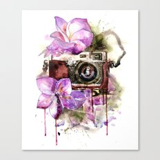 flower camera Canvas Print