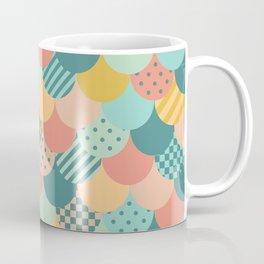 Patchwork Mermaid Scales Coffee Mug
