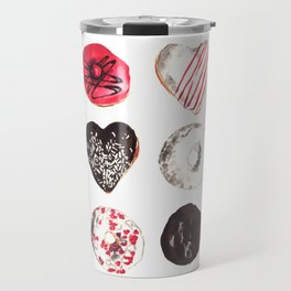 Assorted Donuts Valentine's Day Krispy Kreme Sprinkles Hearts Travel Mug