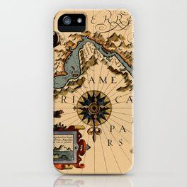 Map Of The Strait Of Magellan 1611 iPhone Case