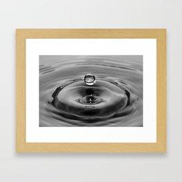 raindrop black and white Framed Art Print