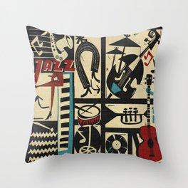 Jazzz Throw Pillow