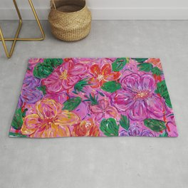 Pink Loose Abstract Florals Rug