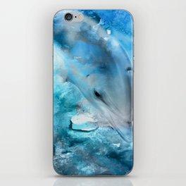 Watercolor Dolphin  Digital Art iPhone Skin