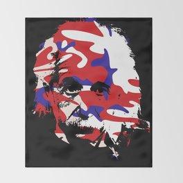 Genius in disguise art print Throw Blanket
