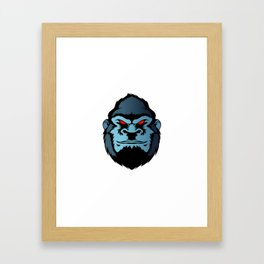 blue gorilla head Framed Art Print