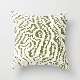 Corail texturé Throw Pillow