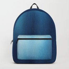 Human Figures In Blue Backpack