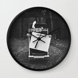 The Second Coming Of Sylvia Plath Wall Clock
