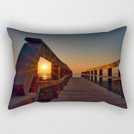 Sunrise thru Boardwalk Rectangular Pillow