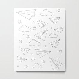 Paper Airplanes Metal Print