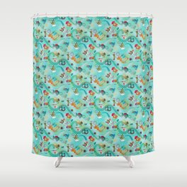 Alien Hitchhikers Shower Curtain