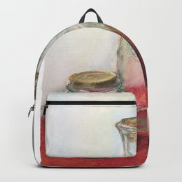 Bottles and jar_still life Backpack