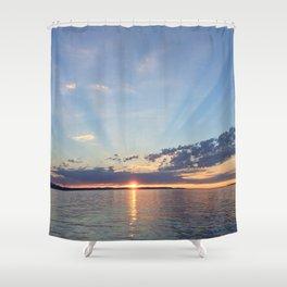 A Seattle Sunset Shower Curtain