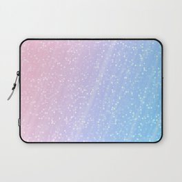 Light blue pink confetti glitter Laptop Sleeve
