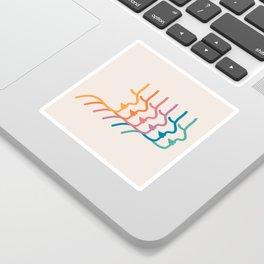 Boca Silhouettes Sticker