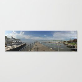 Fog Shine over Seneca Harbor Canvas Print