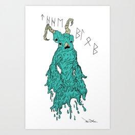 THE BLOB Art Print